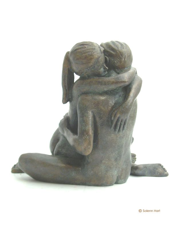 Sculpture couple Solenn Hart Sculpteur