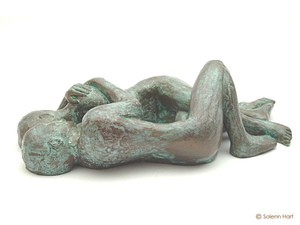 Avril, sculpture nu, couple