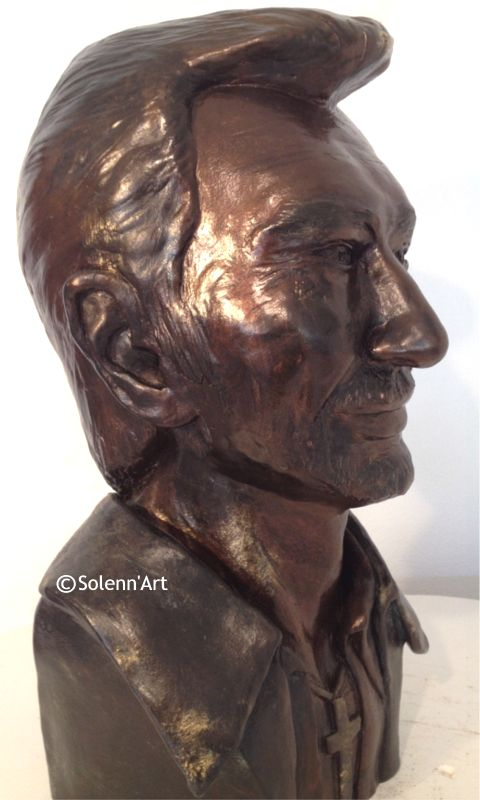 Buste de Johnny par Solenn 'Art Sculpteur