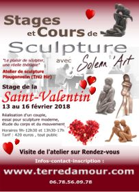 Stage de sculpture Saint-Valentin 2018